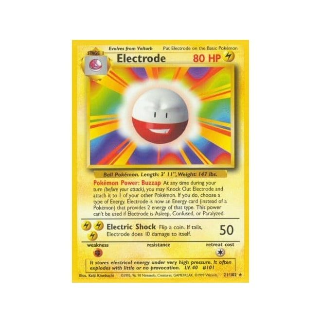 Pokemon Base Set 021/102 Electrode