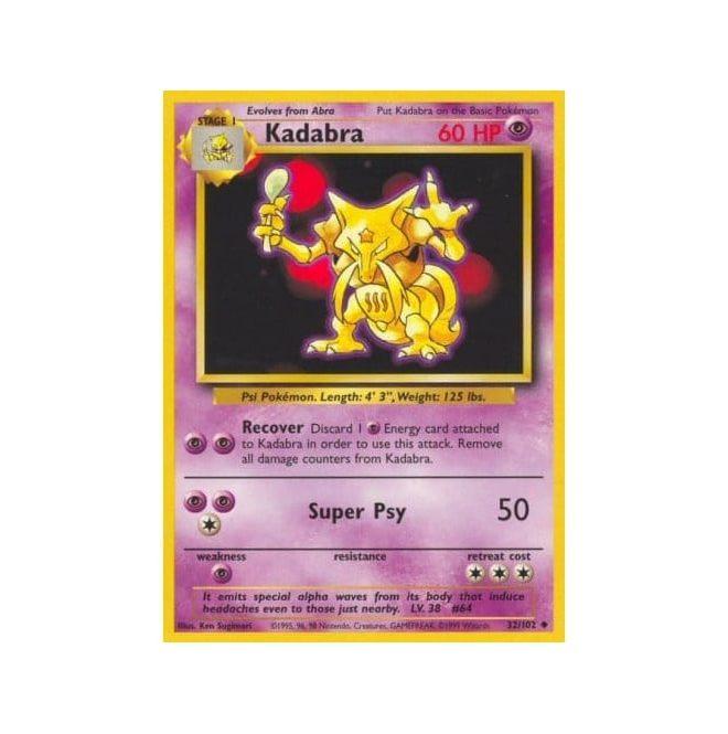 Pokemon Base Set 032/102 Kadabra