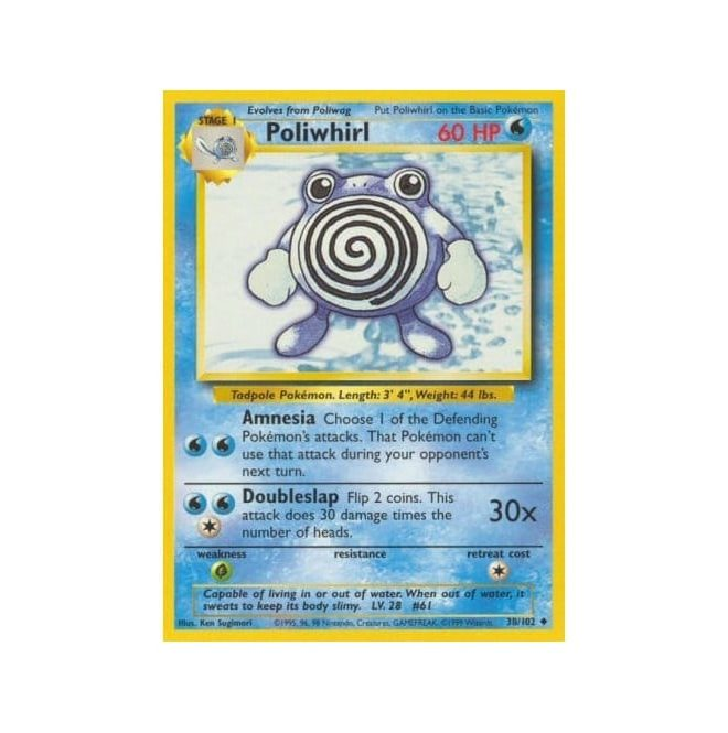 Pokemon Base Set 038/102 Poliwhirl