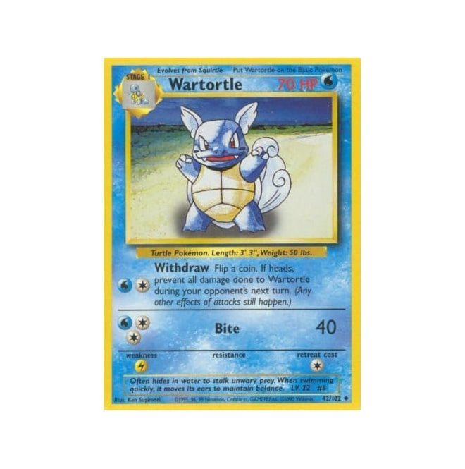 Pokemon Base Set 042/102 Wartortle