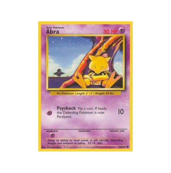 Pokemon Base Set 043/102 Abra