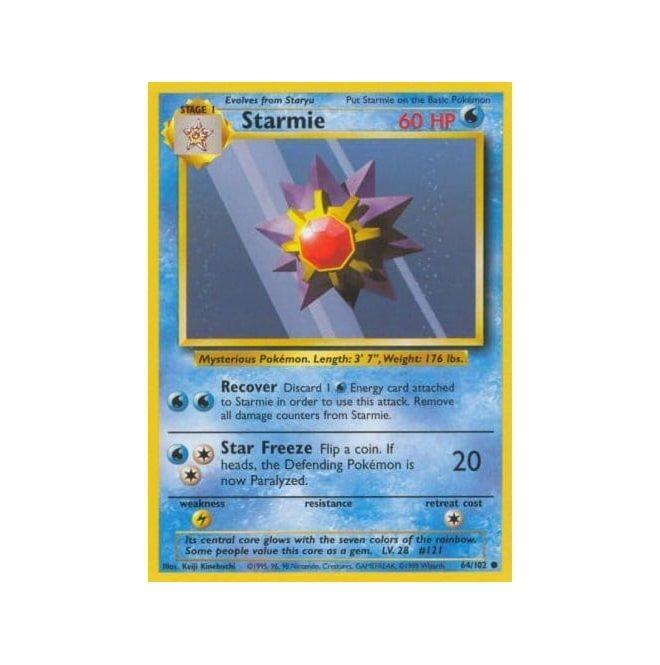 Pokemon Base Set 064/102 Starmie