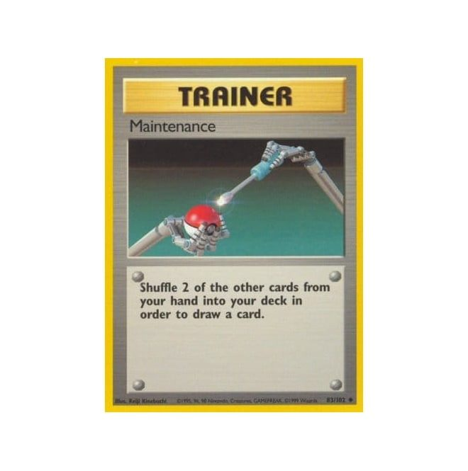 Pokemon Base Set 083/102 Maintenance (Trainer)