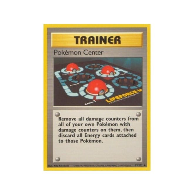 Pokemon Base Set 085/102 Pokemon Center (Trainer)