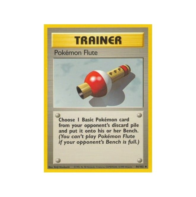 Pokemon Base Set 086/102 Pokemon Flute (Trainer)