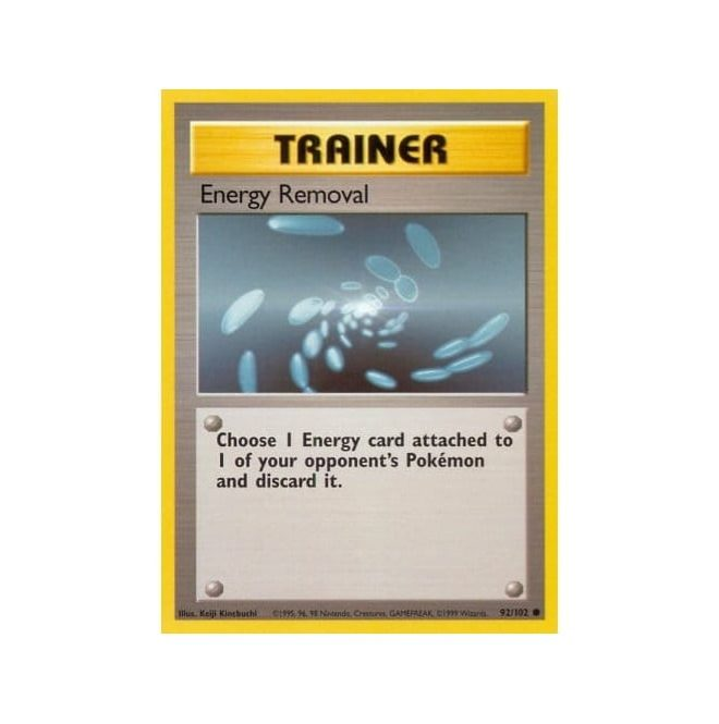 Pokemon Base Set 092/102 Energy Removal (Trainer)