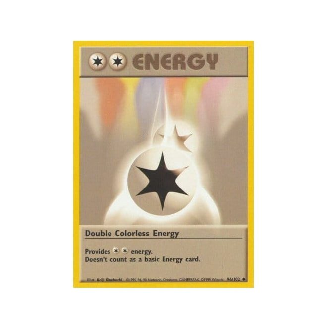 Pokemon Base Set 096/102 Double Colorless Energy (Energy)