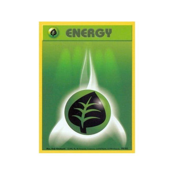 Pokemon Base Set 099/102 Grass Energy (Energy)