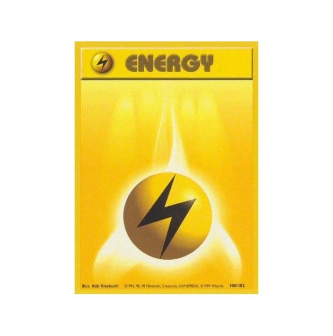 Pokemon Base Set 100/102 Lightning Energy (Energy)