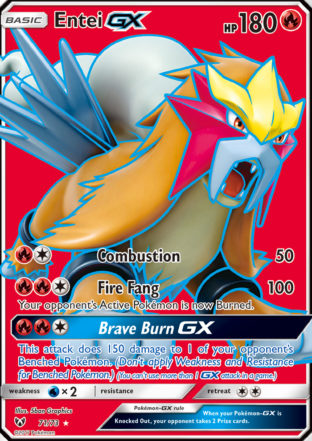 Pokemon Single Card – SHINING LEGENDS – 71/73 : Entei GX