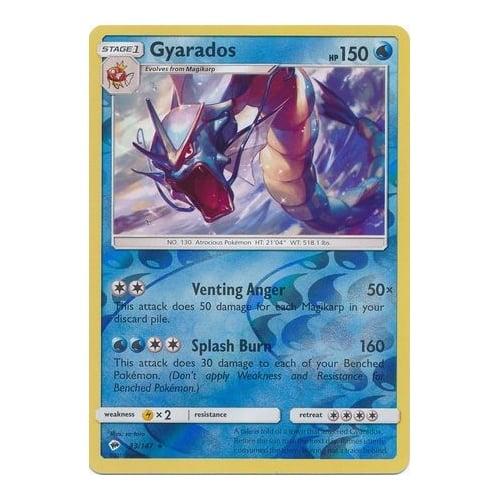 Pokemon Single Card SUN AND MOON – BURNING SHADOWS (Reverse Holo) – 033/147 : Gyarados