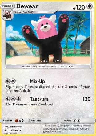 Pokemon Single Card SUN AND MOON – BURNING SHADOWS – 111/147 : Bewear