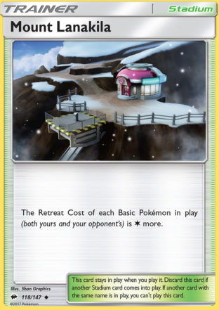 Pokemon Single Card SUN AND MOON – BURNING SHADOWS – 118/147 : Mount Lanakila